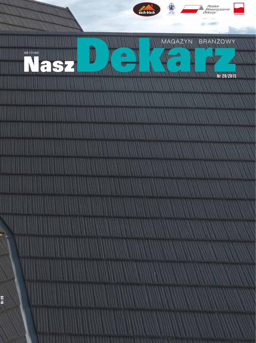 """TILCOR na okładce """"Nasz Dekarz"""""""